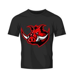 furious boar head sport club logo concept vector image