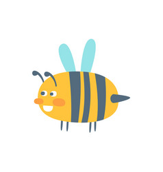 cute cartoon wasp colorful character vector image