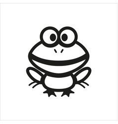 Frog icon for book educational game for kids vector