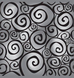 Abstract ornamental seamless pattern swirl line vector