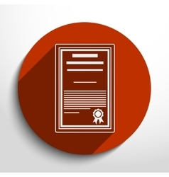 Certificate icon vector