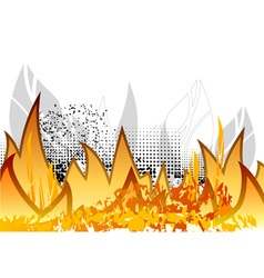 Abstract fire on the white vector