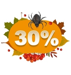 Halloween discount coupon of 30 percent halloween vector