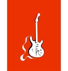 Classical electro guitar vector