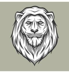 Lion head symbol Vintage style vector image