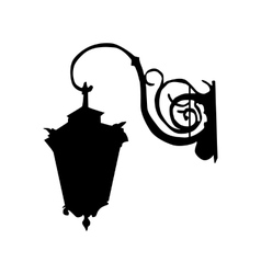 Lamp black silhouette vector