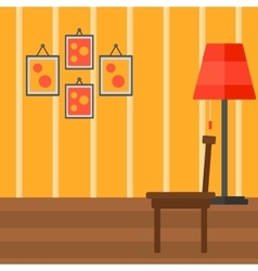Background of living room vector image