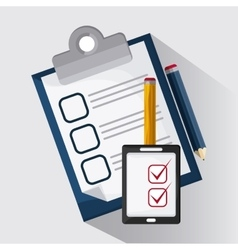 Checklist design document  mark vector image