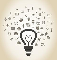 Art a bulb2 vector