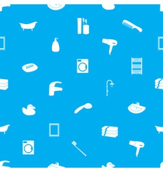 bathroom icons pattern eps10 vector image vector image