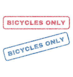 Bicycles only textile stamps vector