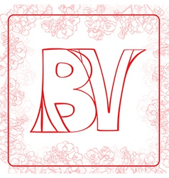 Bv monogram vector