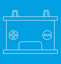 Car battery icon outline style vector