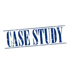 Case study blue grunge vintage stamp vector