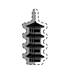 Castle japanese building icon vector
