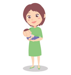 Character of mother with baby vector