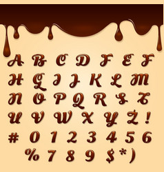 chocolate made text vector image