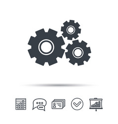 Cogwheels icon repair service sign vector