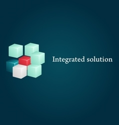 Conceptual image of integrated solution vector image vector image