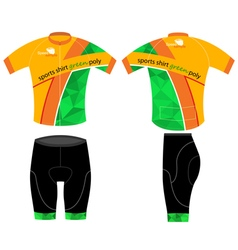Cycling sports shirt vector