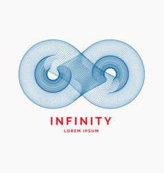 dynamic waves form a sign of infinity vector image