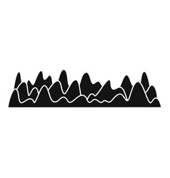Equalizer sound vibration icon simple black style vector