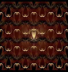 floral baroque seamless pattern dark red damask vector image
