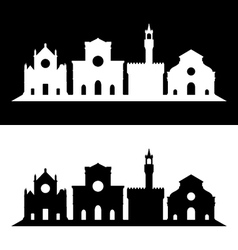 florence skyline vector image