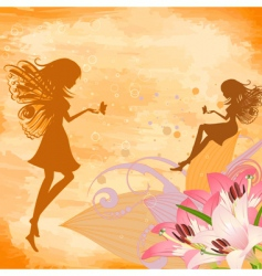 flower fairies vector image vector image