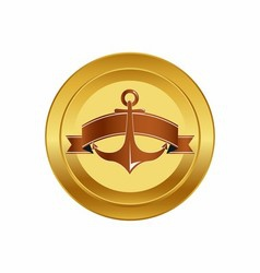 golden anchor design vector image