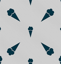 Ice Cream icon sign Seamless pattern with vector image vector image