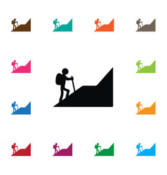 Isolated climber icon alpinist element can vector