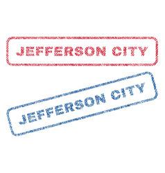 Jefferson city textile stamps vector
