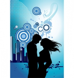 kissing couple vector image vector image