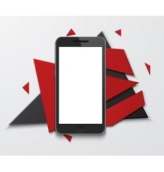 Modern smartphone creative banner vector