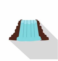 Niagara falls ontario canada icon flat style vector