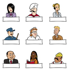 people professions signs vector image