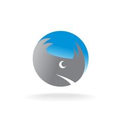 Rhino head logo vector image vector image