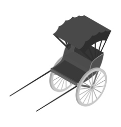 Rickshaw icon in monochrome style isolated on vector
