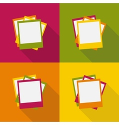 set of photo blanks vector image