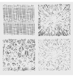 Set of rough hatching drawing texture vector image vector image