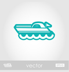Ship boat outline icon summer vacation vector