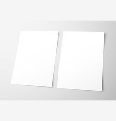 Templates of empty flyers on a gray background vector