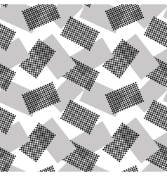 The pattern of gray and halftone rectangles vector image vector image
