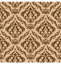 Tracery brown seamless vector image