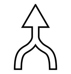 Unite arrow up thin line icon vector