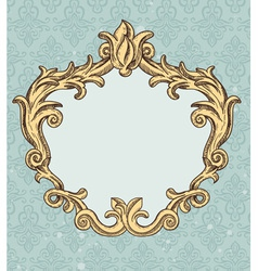 vintage frame with copy space for tex vector image vector image