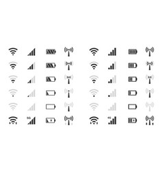 wifi level icons signal strength indicator vector image vector image