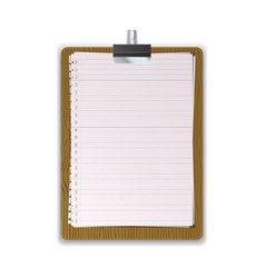Wooded Clipboard with lined paper vector image vector image