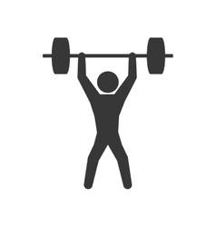 Pictogram weight fitness gym sport icon vector